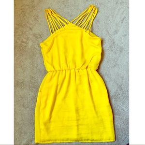 Strappy yellow summer dress